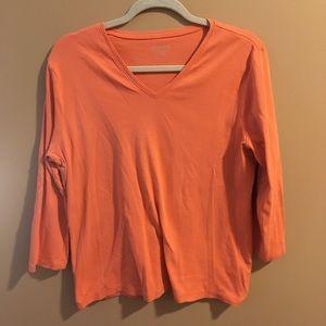 Pendleton Basic Orange Long Sleeve T-shirt